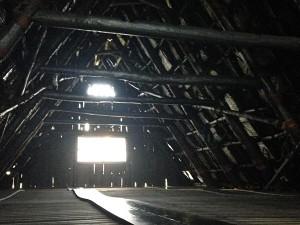合掌造りの屋根内部